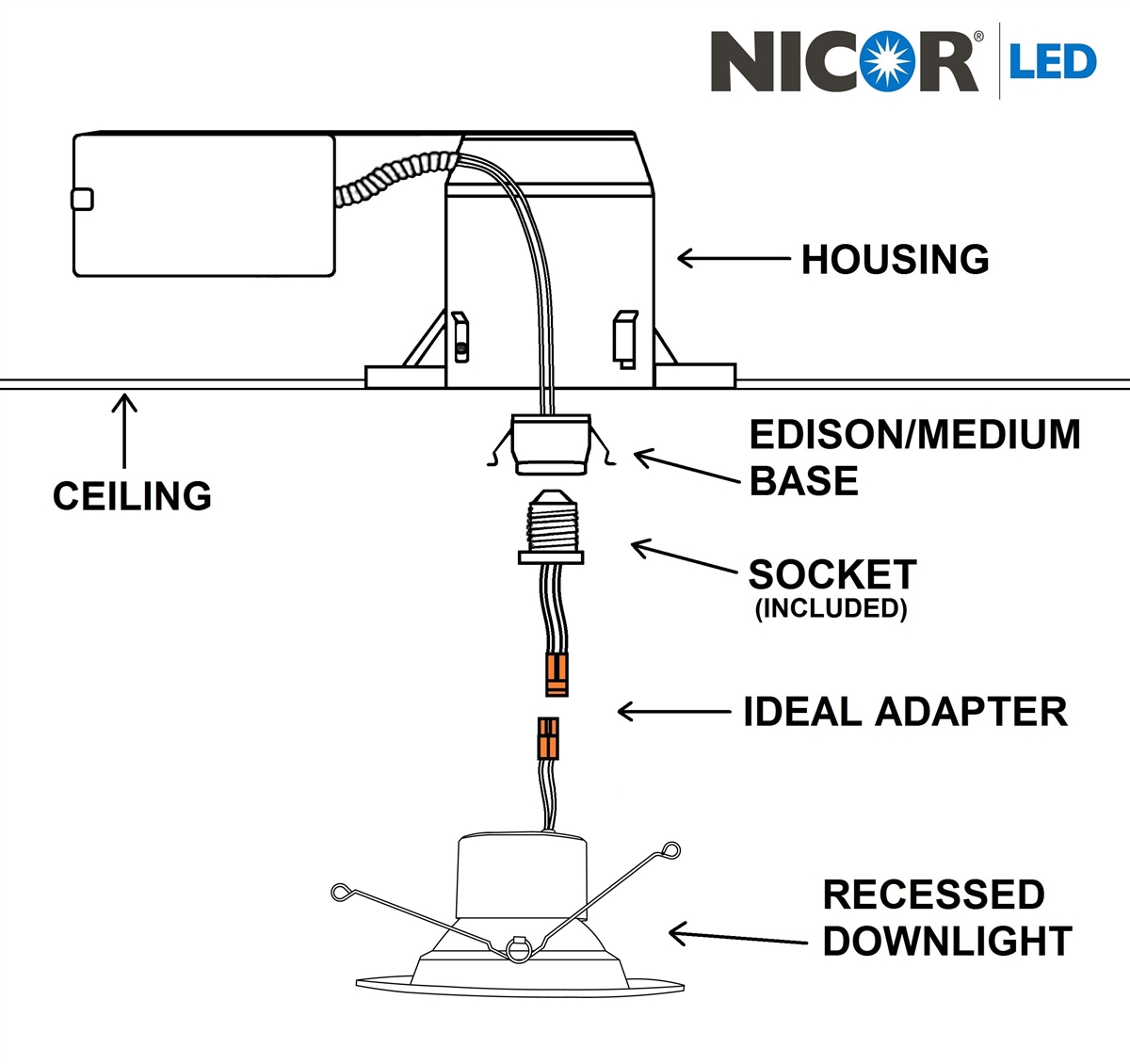 hight resolution of nicor exit sign wiring diagram completed wiring diagramsnicor dcr56 800lm dimmable recessed led downlight elevator wiring