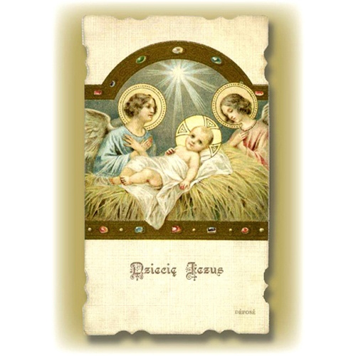 Polish Art Center Christmas Greeting Card With The Child