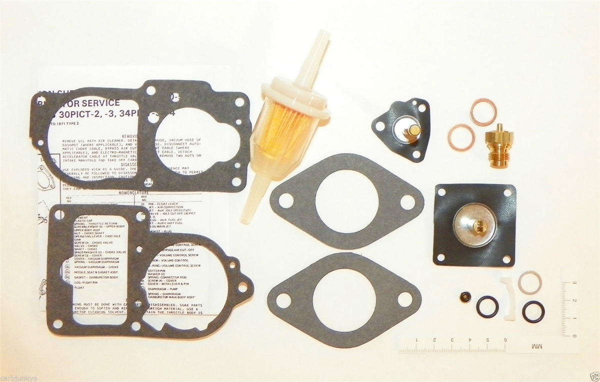 hight resolution of carburetor fuel system repair kit vw 1974 super beetle solex 34 pict fuel filter larger photo