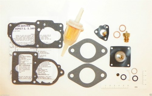 small resolution of carburetor fuel system repair kit vw 1974 super beetle solex 34 pict fuel filter larger photo