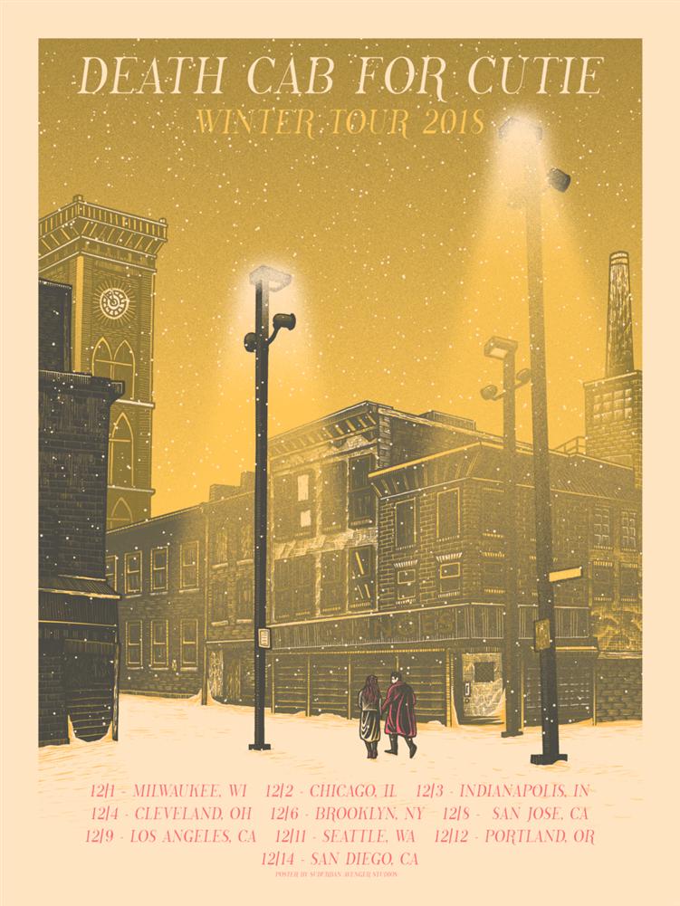 cutie concert poster by luke martin