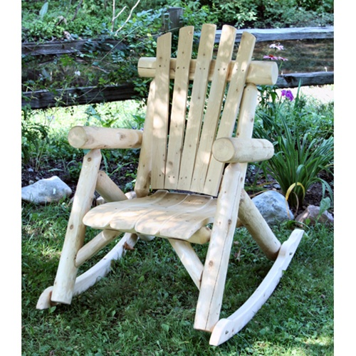 cedar rocking chairs wooden childrens table and uk log chair cf1125 free shipping weatherproof garden furniture