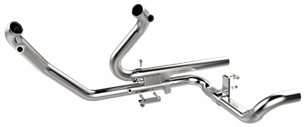 H-D Touring Exhaust Chrome 2-into-2 Exhaust Head Pipe