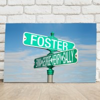 Personalized Street Sign Canvas | Personalized Canvas ...