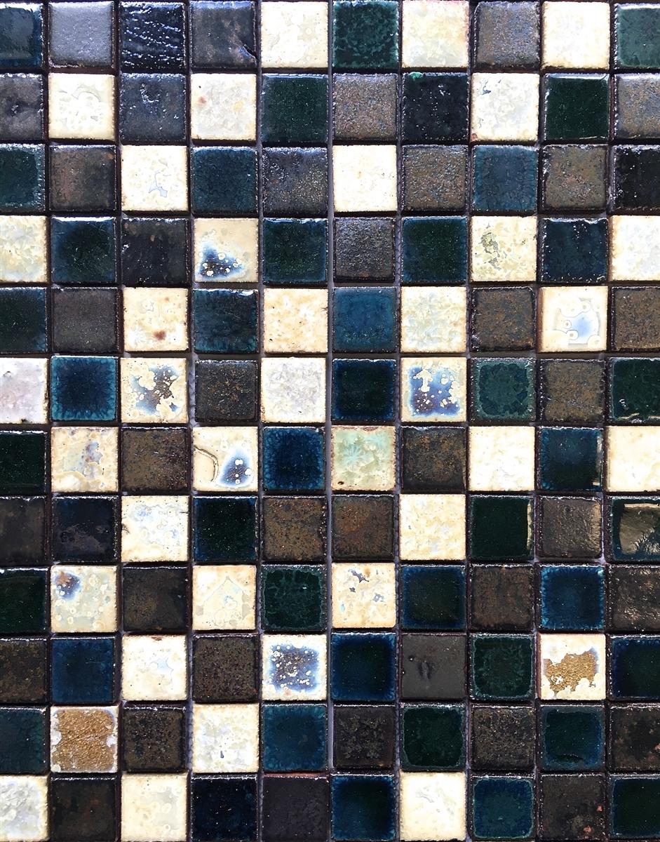 antique vaglio hand glazed mix bourges green 1x1 ceramic mosaic tile