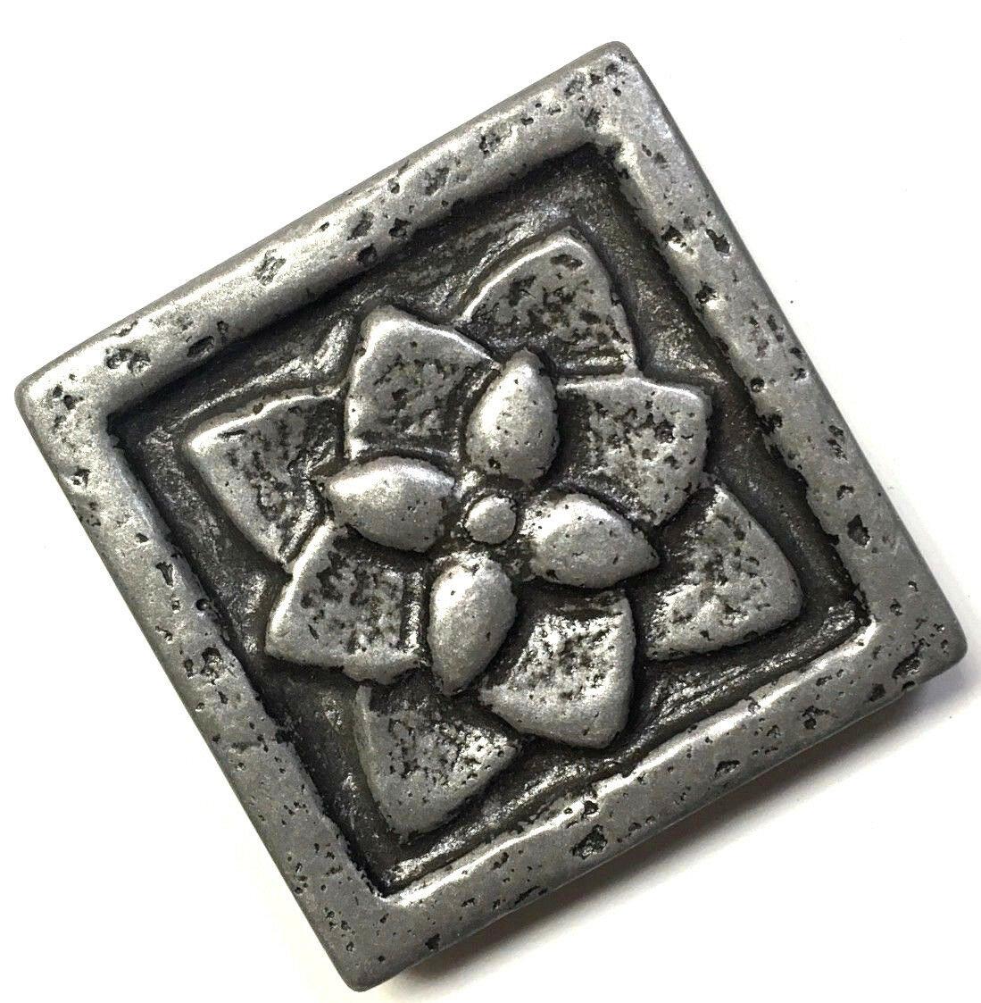 flora 2x2 metal resin decorative insert accent piece art craft tile