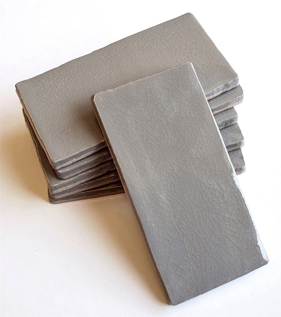 3x6 gray crackle glaze subway ceramic wall tile