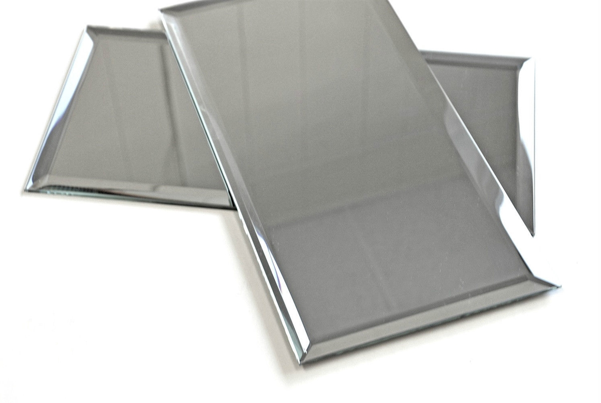 6x12 wide beveled mirror subway tile backsplash wall decorative kitchen 1 sf