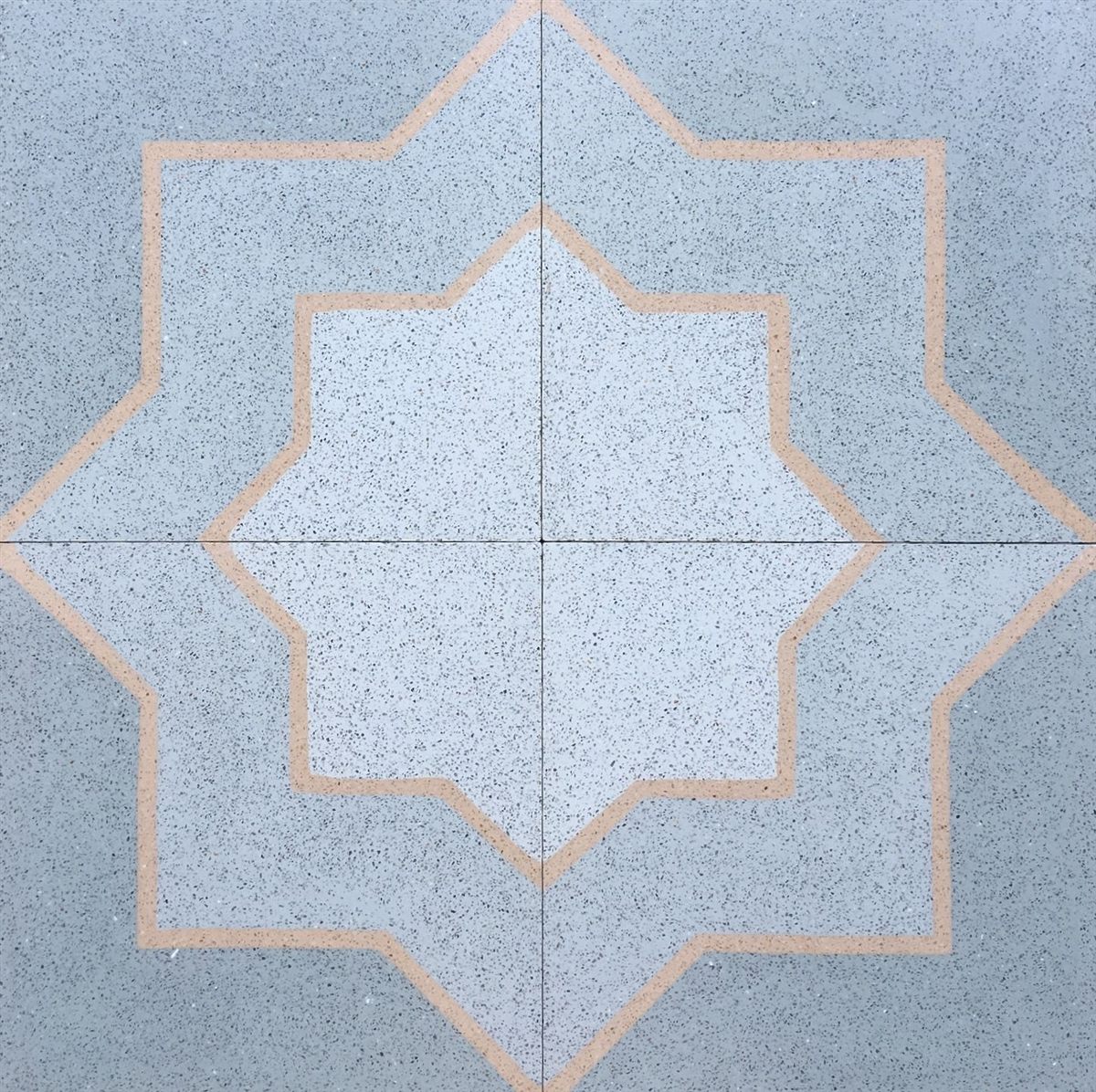 8x8 star and cross matte encaustic cement floor tile