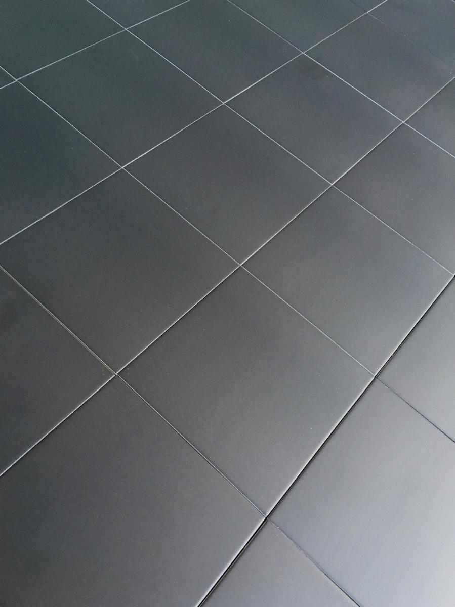 8 7 x 8 7 cafe de paris satin matte black porcelain tile floor wall box of 10