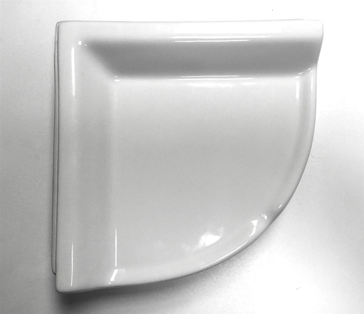 Corner Shelf White Ceramic Bath Accessory Shower Thinset