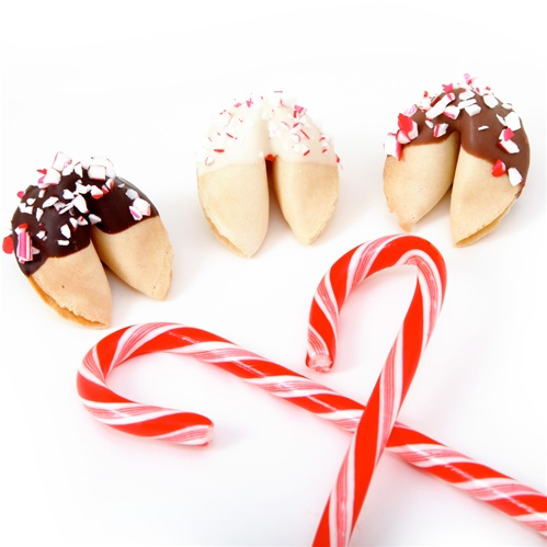 Chocolate Covered Fortune Cookies White Mint Flavored