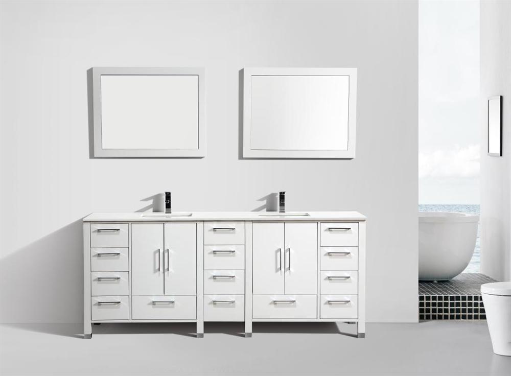 anziano 84 gloss white double sink vanity w quartz countertop out of stock no eta