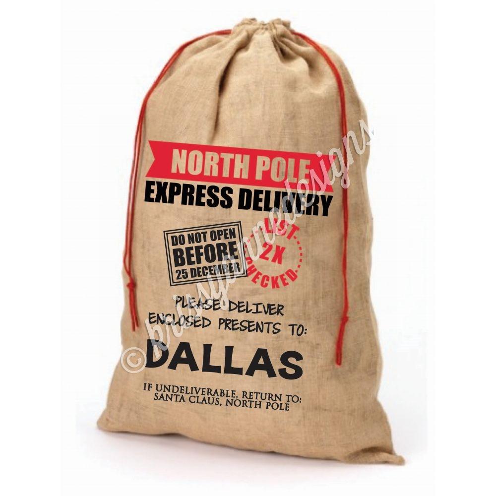 personalized santa sack add