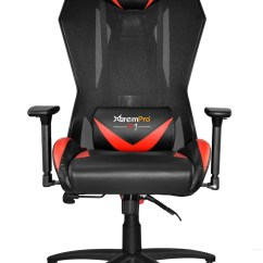 Mesh Gaming Chair Lumbar Support For Office Xtrempro 22045 F1 Swivel Black Red
