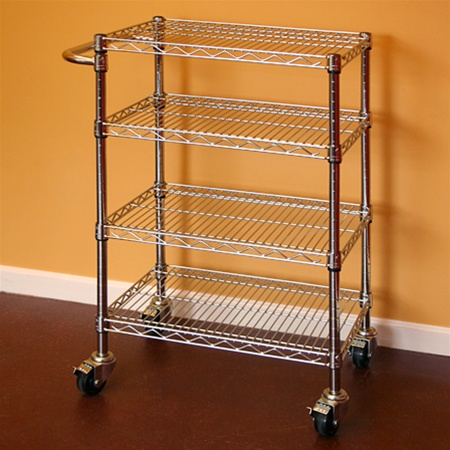 kitchen wire rack island cabinet shelving cart 12 d x 30 w 34 h additional photos