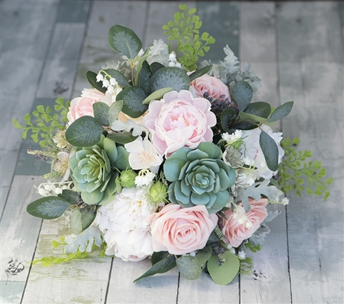 natural touch peonies succulents