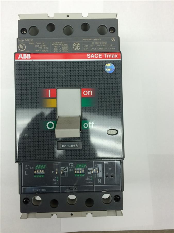 T4N250 SACE TMAX PR221DS 250A ABB CIRCUIT BREAKER