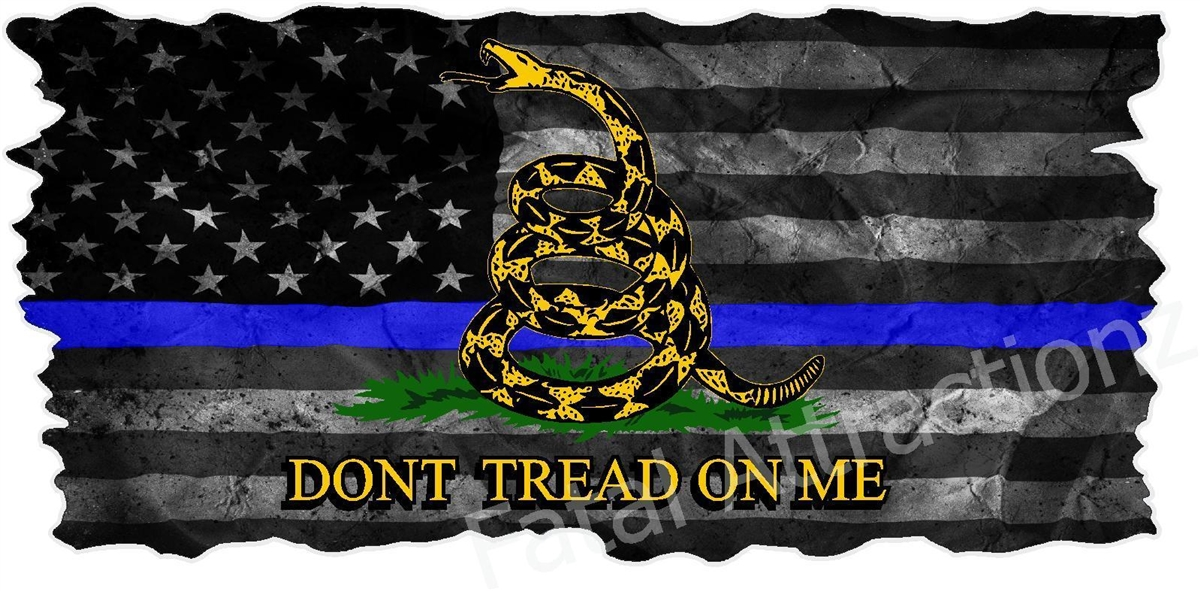 distressed american blue line