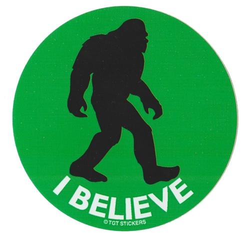 I Believe Sasquatch Sticker  Stickers  Trail Gifts