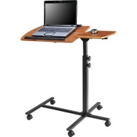 Adjustable Height Laptop Computer Standing Desk Cart with ...