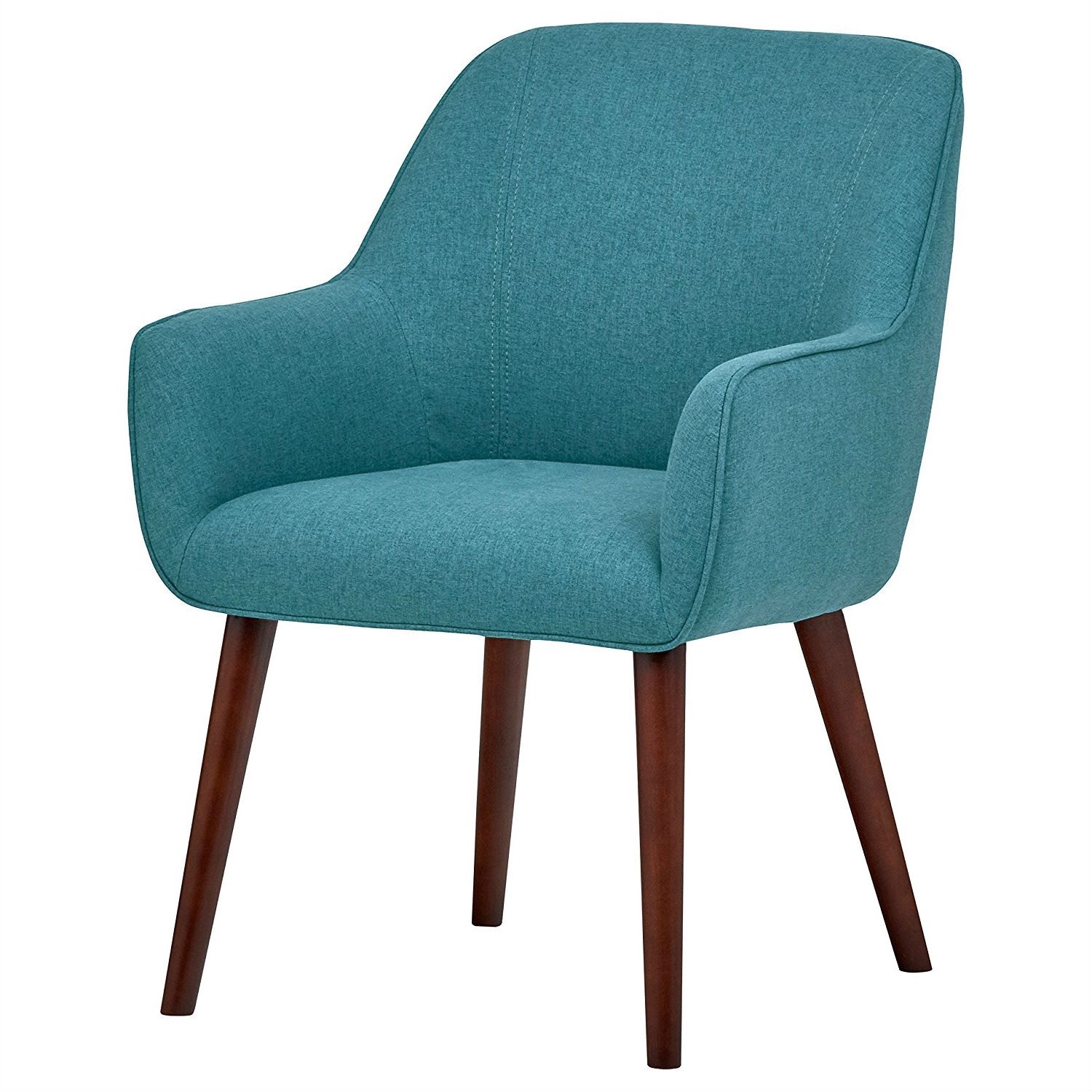 Aqua Dining Chairs Modern Mid Century Style Accent Dining Chair With Wood Legs And Aqua Blue Upholstery