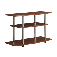 Modern Wood and Metal TV Stand in Cherry Brown Finish ...