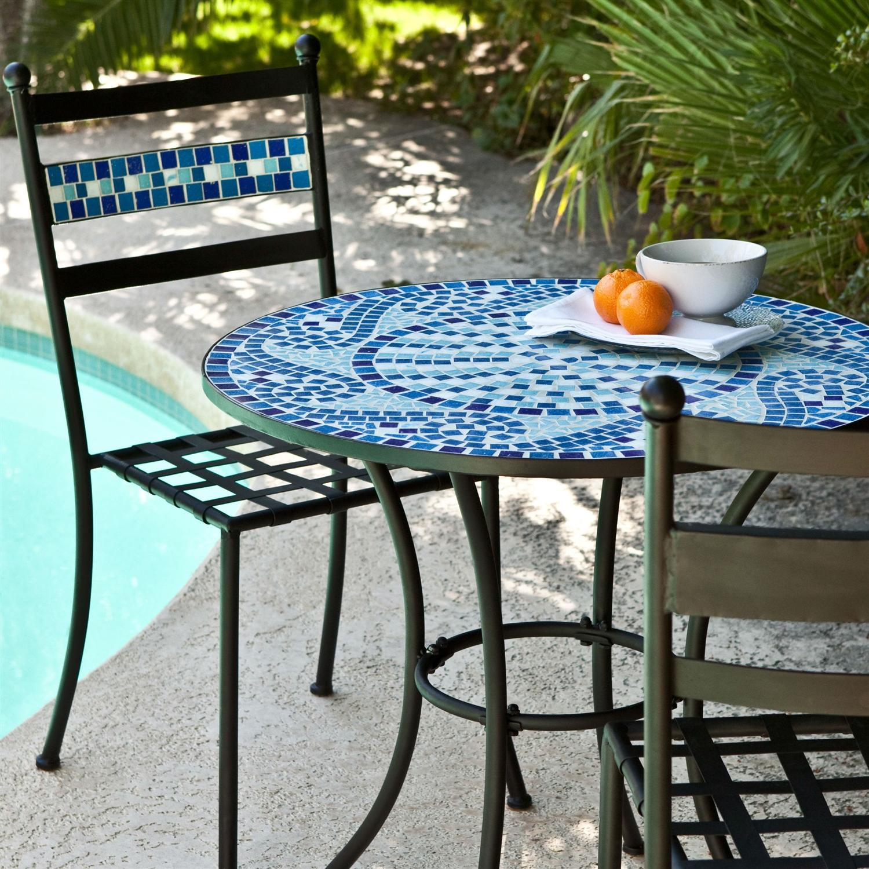 Blue Outdoor Bistro Sets Patio Furniture