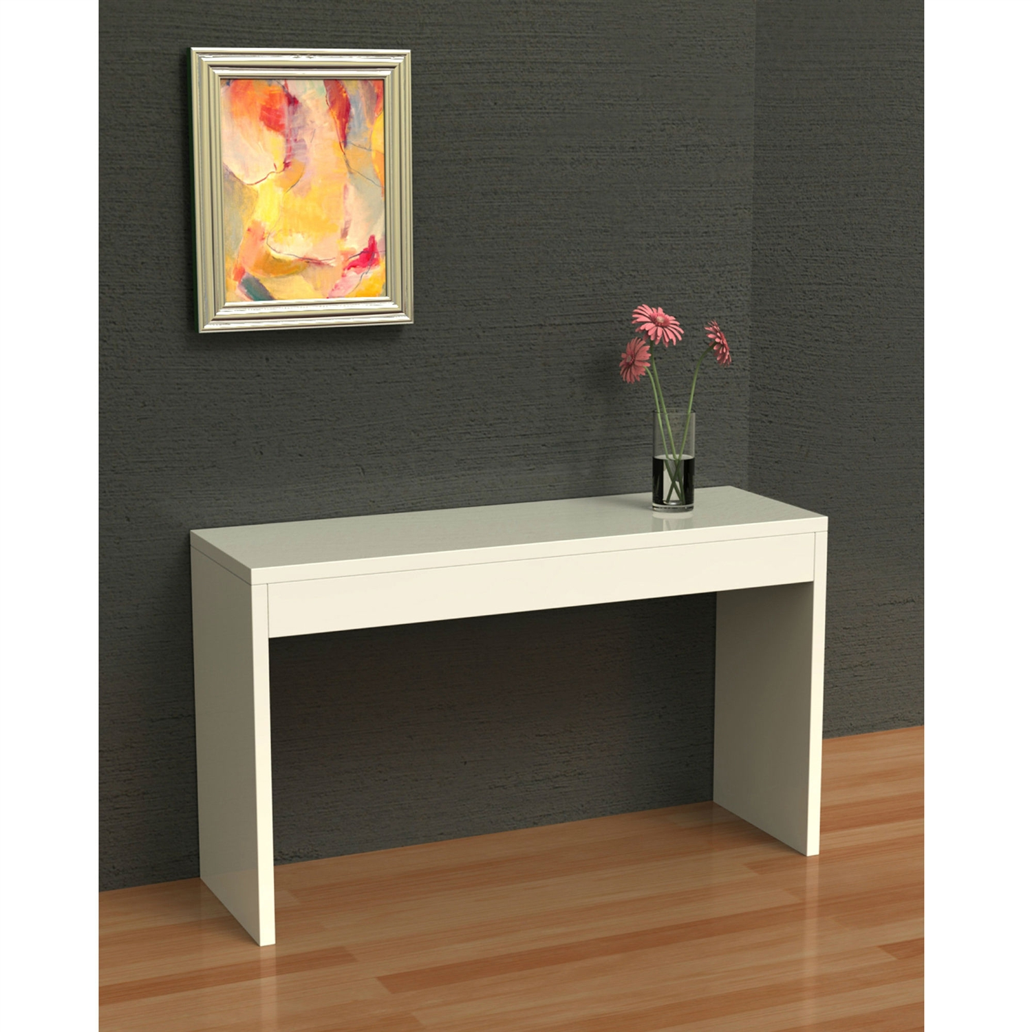 living room console paint colors for with dark furniture white sofa table modern entryway retail price 139 00
