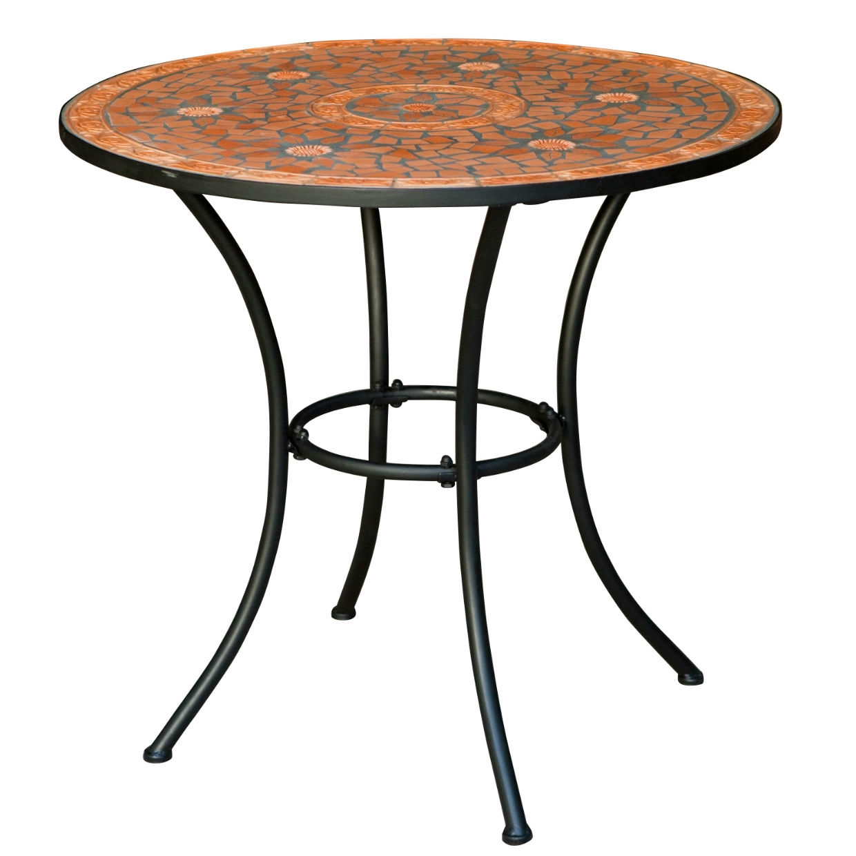 Outdoor Patio Bistro Table With Terracotta Mosaic