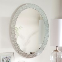 Oval Frame-less Bathroom Vanity Wall Mirror with Elegant ...