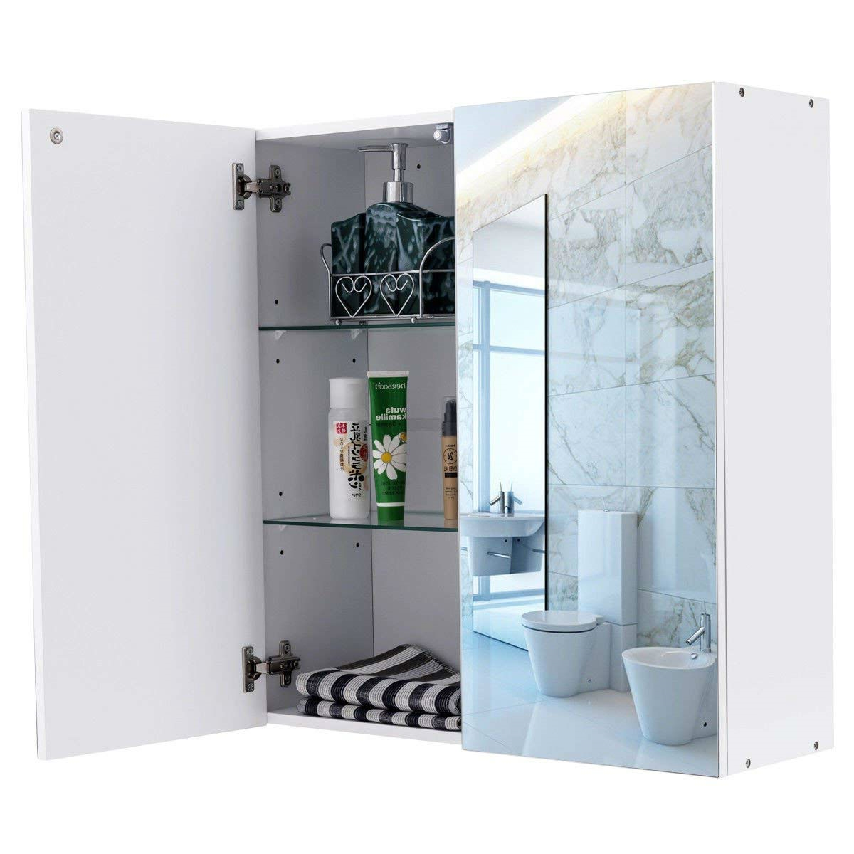 Modern 24inch Wall Mounted Bathroom Medicine Cabinet with