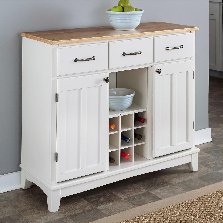 White Kitchen Buffet Cabinet Novocom Top