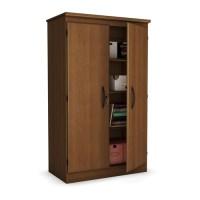 Cherry 2-Door Storage Cabinet Wardrobe Armoire for Bedroom ...