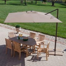 Modern 8.5-ft Offset Cantilever Square Patio Umbrella With