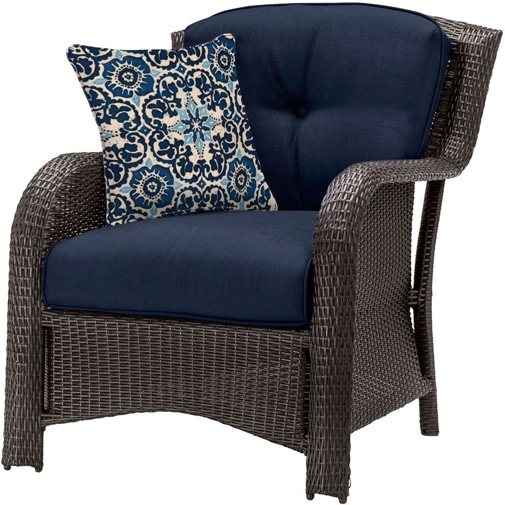 navy blue wicker chair cushions online