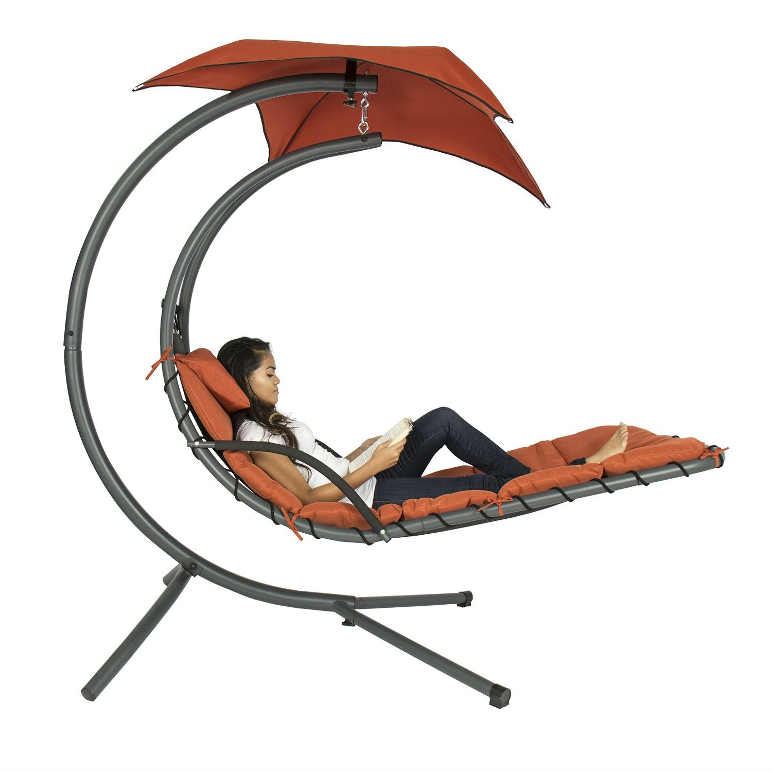 hanging chair mr price bedroom chairs for sale orange red single person modern chaise lounger hammock