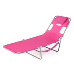 Pink Beach Chair Brenton Studio Outdoor Chaise Lounge With 3 Recline Positions