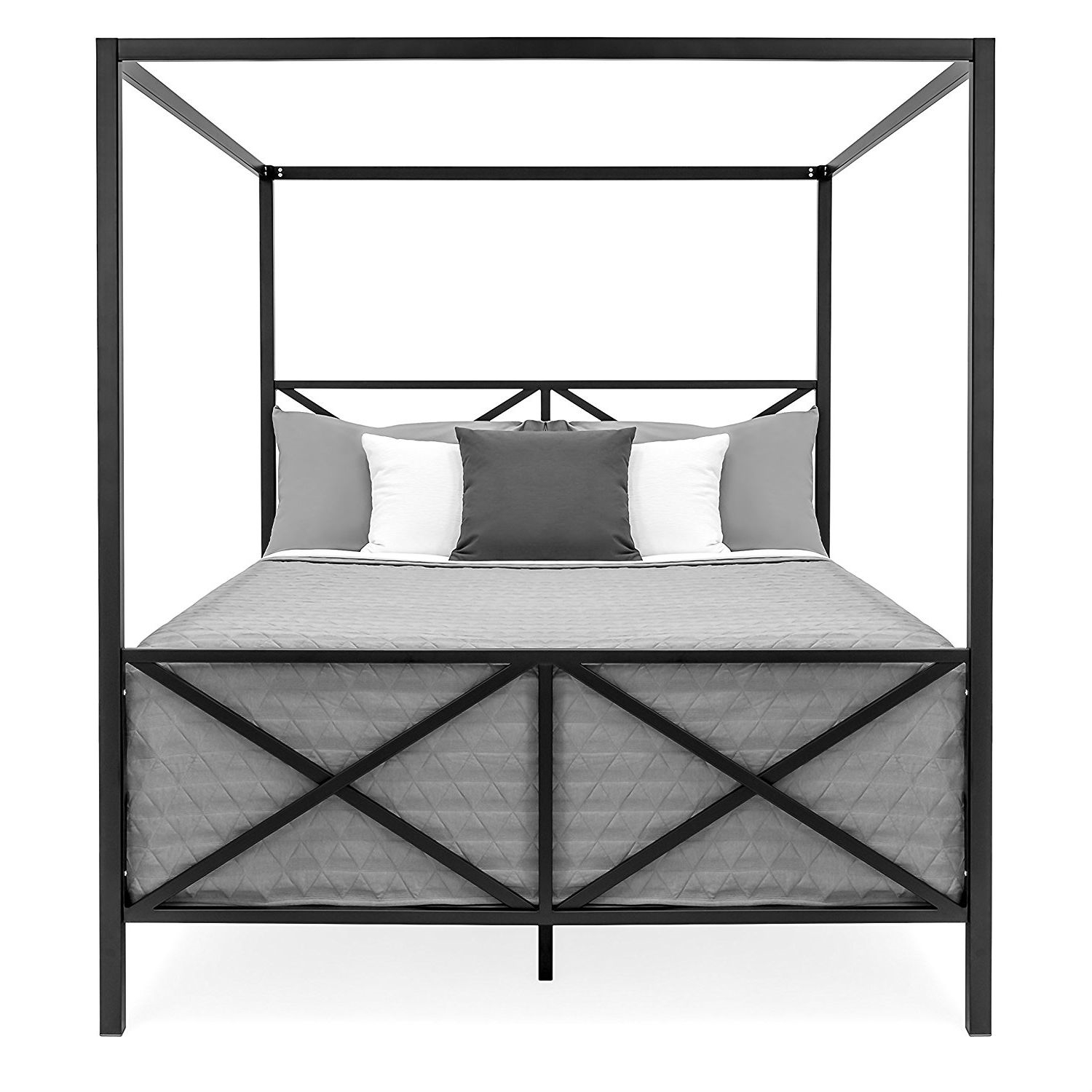 - Queen Size Metal Canopy Bed Frame - Canopy Ideas 2020