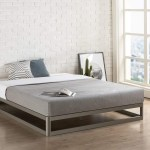 Queen Size Modern Heavy Duty Low Profile Metal Platform Bed Frame Fastfurnishings Com