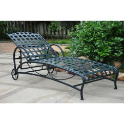 Iron Chaise Lounge Chairs Swoop Arm Accent Chair Outdoor Multi Position In Black