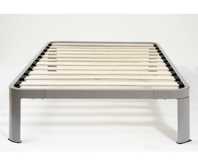 Twin Size Luna Metal Platform Bed Frame With Wood Slats Fastfurnishings Com