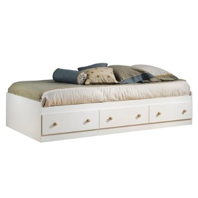wooden frame beach chairs big lots furniture twin size mates platform bed in white/maple with 2 storage drawers | fastfurnishings.com