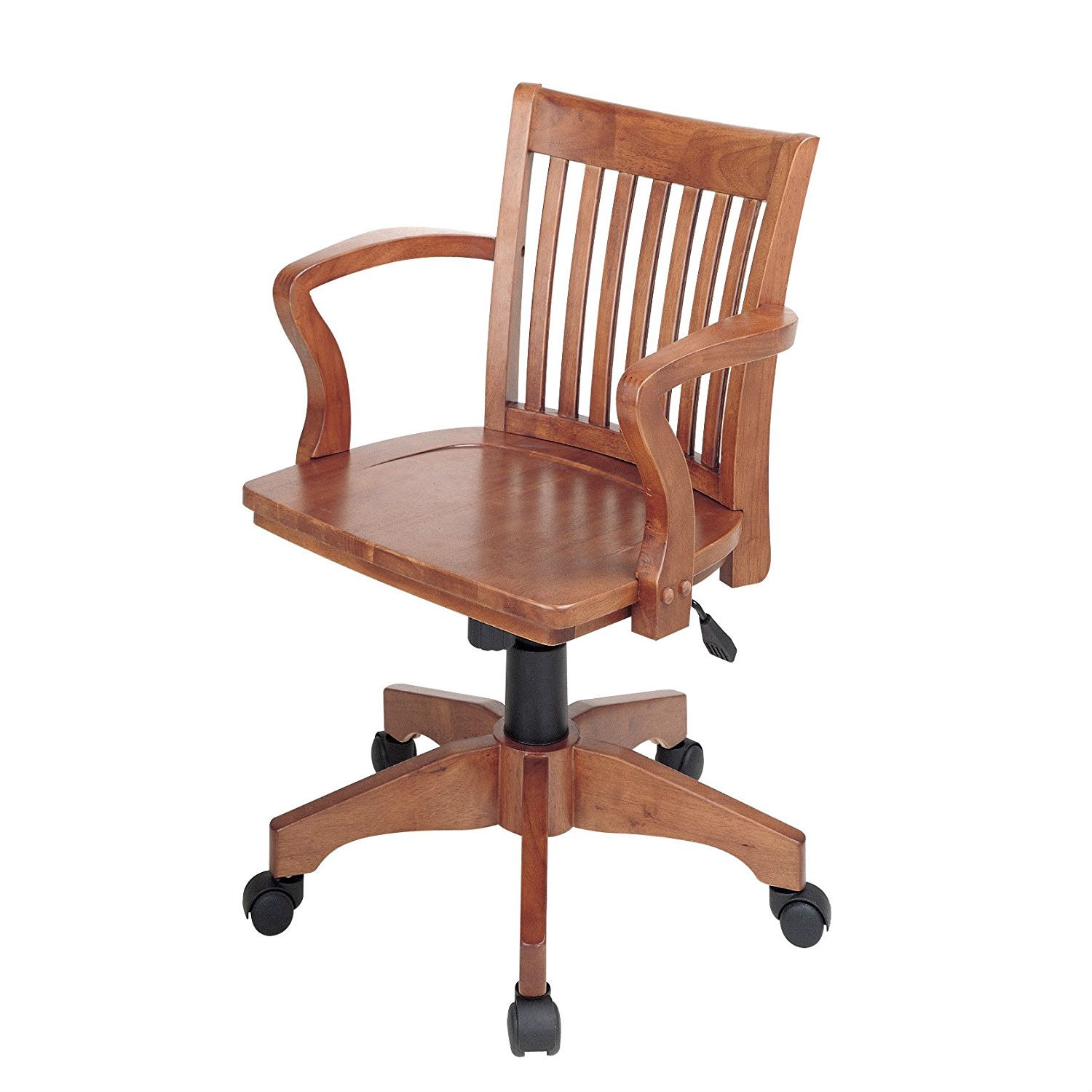 Wooden Bankers Chair Classic Wooden Bankers Chair With Wood Seat And Arms