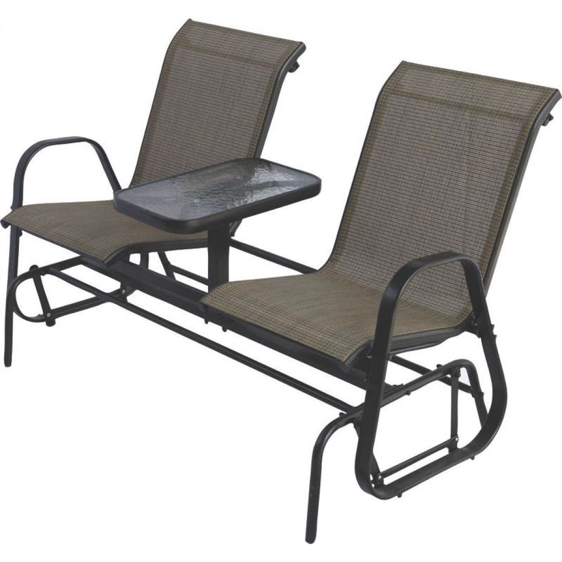 Glider Patio Chairs 2 Person Outdoor Patio Furniture Glider Chairs With