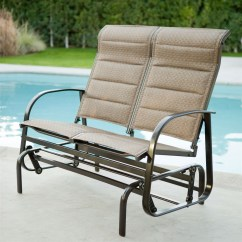 Glider Sofa What Is A Futon Loveseat 4 Post Low Back Wood