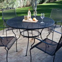 5-Piece Wrought Iron Patio Furniture Dining Set - Seats 4 ...