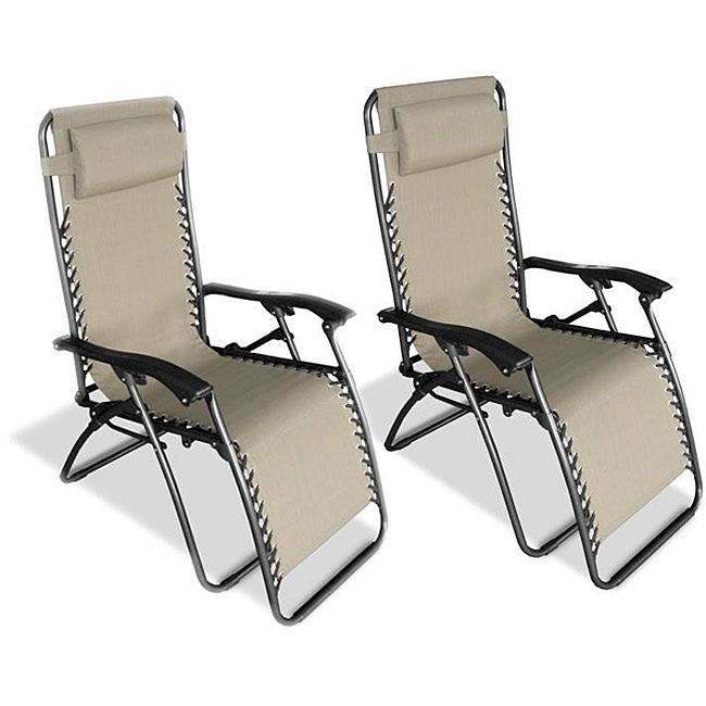 zero gravity outdoor chairs folding foam chair bed canada set of 2 indoor in beige fastfurnishings com