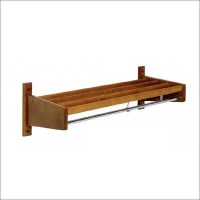 Wood Slat Wall Mounted Coat Rack by Magnuson