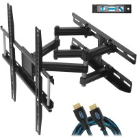 Cheetah Mounts APDAM3B Dual Articulating Arm TV Wall Mount